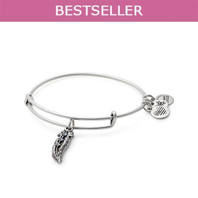 Buy Alex and Ani Feather Bangle in Rafaelian Silver