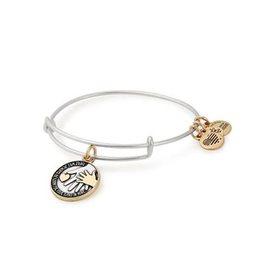 Buy Alex and Ani Hand In Hand Two Tone Charm Bangle