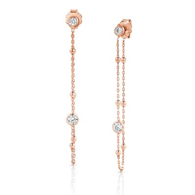 Buy Nomination Bella Stone Set Drop Earrings in Rose Gold