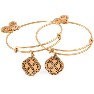Buy Alex and Ani Infinite Connection Set of 2 in Rafaelian Gold