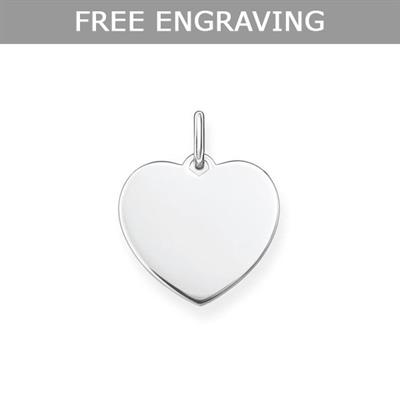 Buy Thomas Sabo Engravable Sterling Silver Heart Pendant