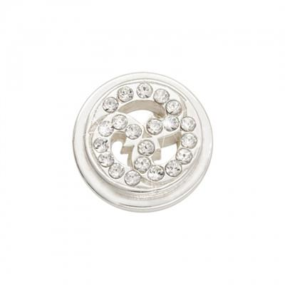 Buy Nikki Lissoni Sparkling Curls Silver Ring Coin