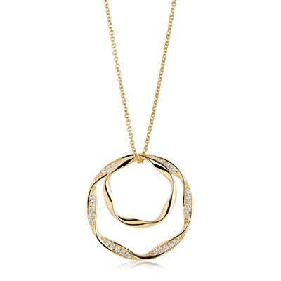 Buy Sif Jakobs Gold Cetara Due Grande Pendant Necklace