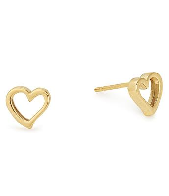 Buy Alex and Ani Open Heart Precious Studs in Gold