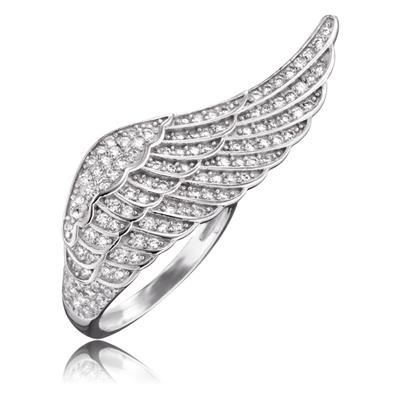 Buy Engelsrufer Angel Wing CZ Ring in Silver
