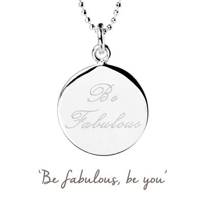 Buy Be Fabulous Mantra Necklace in Silver