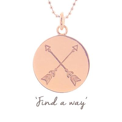 Buy Mantra Find A Way Arrow Necklace in Rose Gold