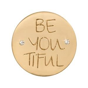 Buy Nikki Lissoni Gold BE-YOU-TIFUL Small Coin 23mm
