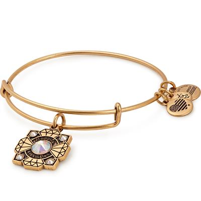 Buy Alex and Ani Bride Swarovski Bangle in Rafaelian Gold