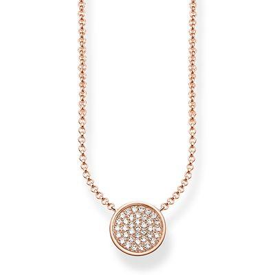 Buy Thomas Sabo Glam & Soul Rose Gold Sparkling Circles Necklace