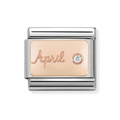 Buy Nomination Rose Gold April Diamond Charm