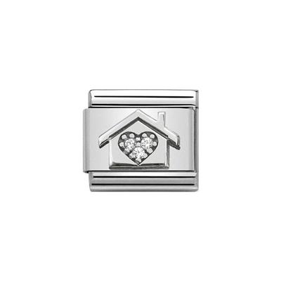 Buy Nomination Silver CZ Heart House Charm