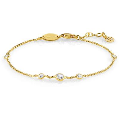 Buy Nomination Bella Round Yellow Gold and CZ Bracelet