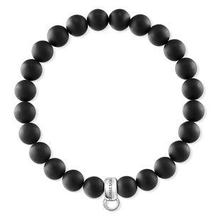 Buy Thomas Sabo Matte Black Obsidian S Charm Club Bracelet