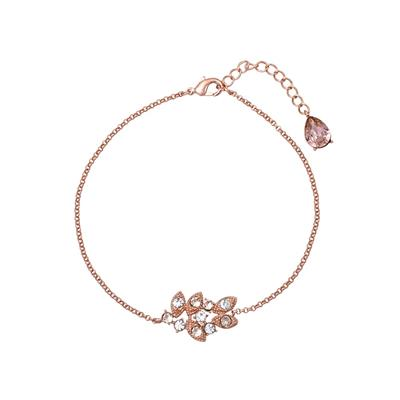 Buy Lily and Rose Rose Gold Laurel Silk Bracelet
