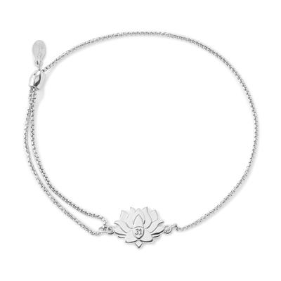 Buy Alex and Ani Lotus Peace Petals Precious Pull Chain Bracelet in Silver