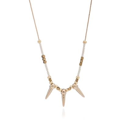 Buy Azuni White and Gold Spike Necklace