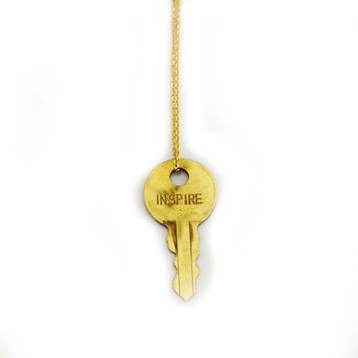 "Buy Giving Keys INSPIRE Dainty Gold 36"" Key Necklace"