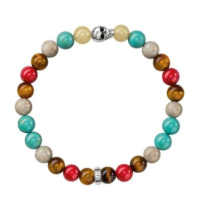 Buy Thomas Sabo Mixed Bead Skull Bracelet Sterling Silver Small
