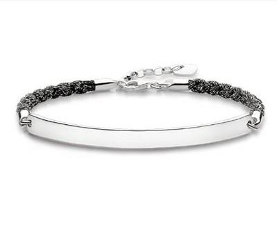 Buy Thomas Sabo Magic Love Bridge Bracelet Black 18cm