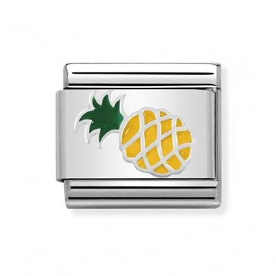 Buy Nomination Silver and Enamel Pineapple Charm