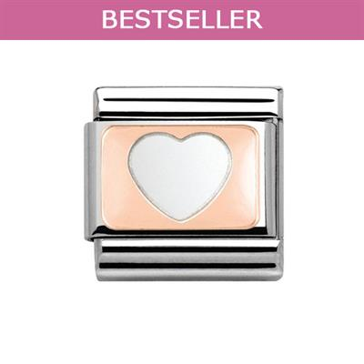 Buy Nomination Rose Gold Love Heart Charm