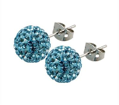 Buy Tresor Paris Candeur 8mm Ice Blue Studs