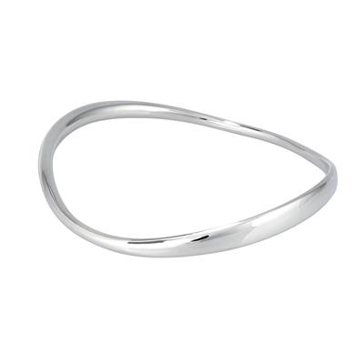 Buy Lifes Journey 'Light The Way' Curved Polished Bangle - Standard