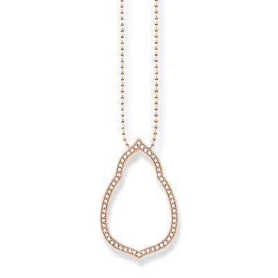 Buy Thomas Sabo Rose Gold Fatima's Garden Oriental Necklace