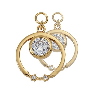 Buy Nikki Lissoni Gold CZ Star 15mm Earring Coins