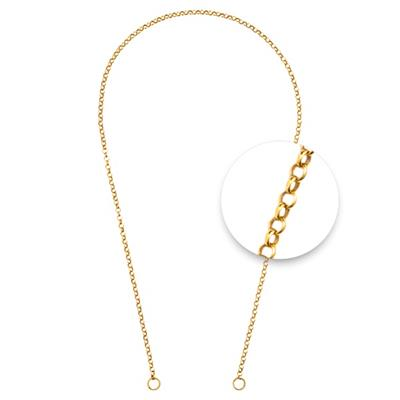 Buy Nikki Lissoni Gold Round Two-Locks Chain