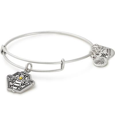 Buy Alex and Ani Queen Bee Bangle in Rafaelian Silver