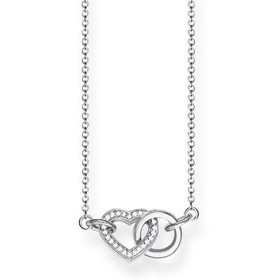 Buy Thomas Sabo CZ Together Heart Necklace