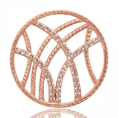 Buy Nikki Lissoni Rebellious Stripes Rose Gold Coin 33mm