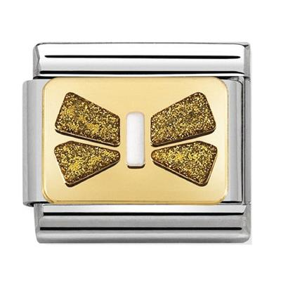 Buy Nomination Gold Glitter Bow Plate