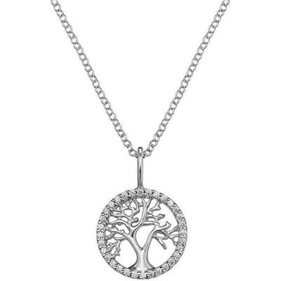 Buy Engelsrufer Silver CZ Tree of Life Necklace