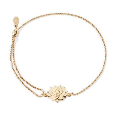 Buy Alex and Ani Lotus Peace Petals Precious Pull Chain Bracelet in Gold