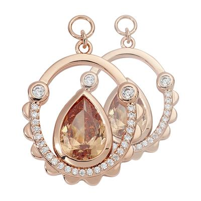 Buy Nikki Lissoni Rose Gold Bohemian Cystal 20mm Earring Coins