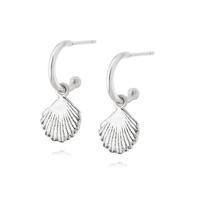 Buy Daisy Silver Shell Drop Earrings