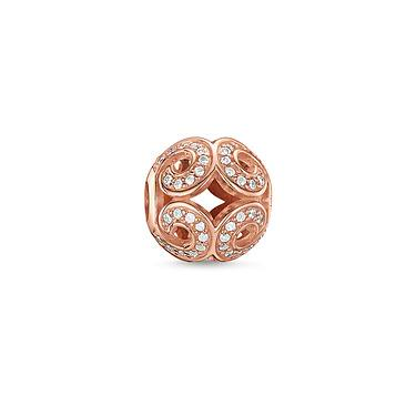 Buy Thomas Sabo Glittering Wave Rose Gold Karma Bead