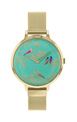 Buy Sara Miller Chelsea Bird Watch, Gold and Turquoise