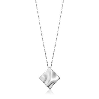 Buy Ania Haie Silver Square Crush Necklace