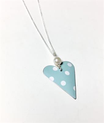 Buy Kate Hamilton-Hunter Polka Dot Heart with Pearl Necklace