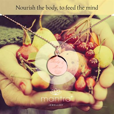 Buy Body & Mind Nourish Mantra Necklace in Rose Gold