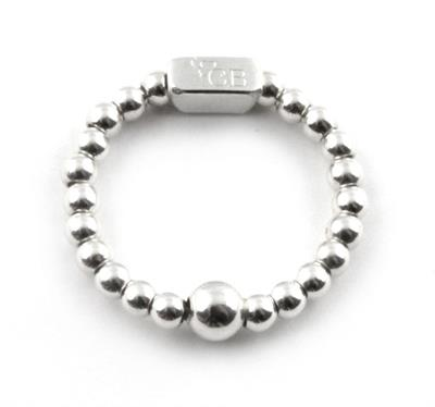 Buy ChloBo Small Silver Mini Bead Ring