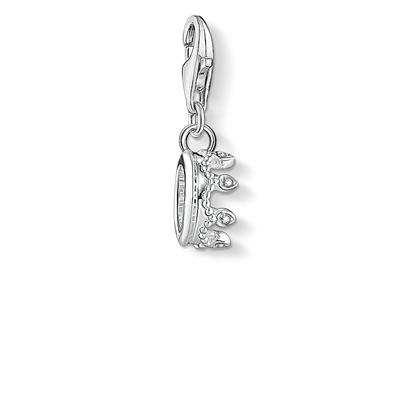 Buy Thomas Sabo Silver Mini CZ Crown Charm