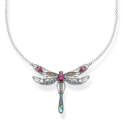 Buy Thomas Sabo Large Silver Dragonfly Multistone Necklace