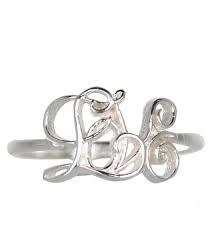 Buy Alex Monroe Silver Love Ring Size M or O