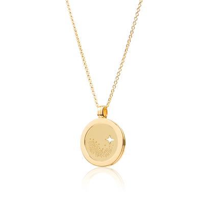 Buy Daisy Yellow Gold Star Halo Necklace