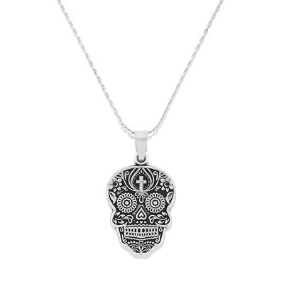 Buy Alex and Ani Calavera Expandable Necklace in Rafaelian Silver